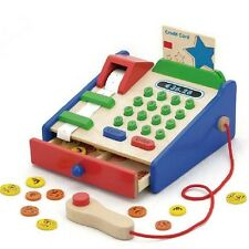 Kinderkasse Holz Holzkasse für Kaufmannsladen Spielkasse Kasse Kaufladen Scanner