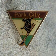PARK CITY Downhill Skiing Vintage Resort Souvenir Ski Travel Lapel Hat Pin Utah