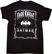 Batman The Dark Knight Scroll Adult T-Shirt - Official DC Comics Superheroes Tee