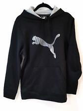 Puma Mens Hoodie Sz M White Black Pullover Sweat Shirt Long Slv Warm Cell Jacket