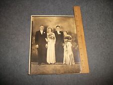 "ANTIQUE PHOTO ""HANDSOME COUPLES"" DRESSED IN BEST CLOTHES. APPROX. 8x10"