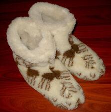 NEW! Ukrainian Slippers Felt merino Boots Sheep Wool Womens Size 39/8.5/6 Brown