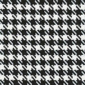 1.625 Yards Houndstooth DOMINO Black White Upholstery Drapery Curtain Fabric