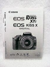 Canon EOS Rebel XTi / EOS Kiss X Instructions | $10 |