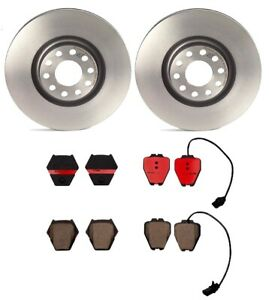 Brembo Front Brake Kit Ceramic Pads PVT Coat Disc Rotors For Audi A6 Quattro S4
