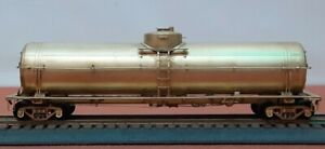 HO Brass Freight Car ATSF TK-M 16,500 Gallon Tank Car.  Decals included.