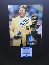 Dick Le Beau autographed signed 8x10 photo Beckett BAS COA Detroit Lions HOF
