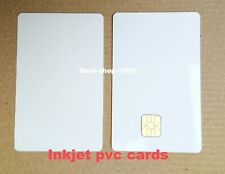 4x Plain White PVC Plastic Sle4428 Chip Smart Card Inkjet Printable for Epson