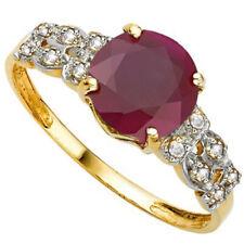 Beautiful 3.07 Carat African Ruby & (16 Pcs) Diamonds (Vs) 10K Solid Gold Ring