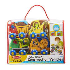 Melissa And Doug K's Kids Pull Back Construction Vehicles Play Set