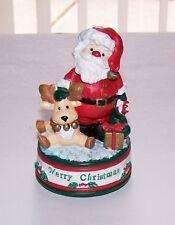 "San Francisco Music Box Co. ""Santa W/ Toys & Gifts Music Box - Great Cond.!"