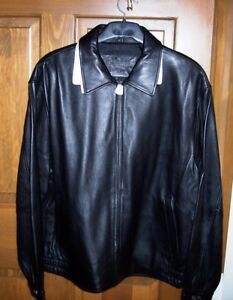 NEW MADE EXCLUSIVELY FOR MERCURY MARAUDER SIZE LARGE LEATHER COAT JACKET!