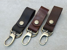 Leather Key Chain Handmade FOB Belt Loop Key Lanyard