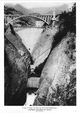 *** Pont et Barrage de la Centrale du Sautet ** 1937 - photo (23,5 x 33) // p560