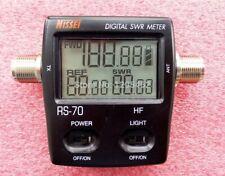 Nissei Rs-70 Rosmetro/wattmetro Digitale Hf/6mt frequenza da 1.6 a 60 MHz