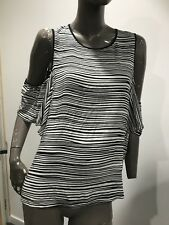 WITCHERY off the shoulder striped Blouse top SIZE 16 BNWT $99.95