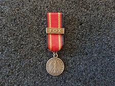 (A16-21) Bundeswehr Einsatzmedaille FOX Miniatur deutsches System bronze