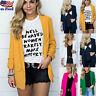 Women Fashion Slim Casual Business Blazer Suit Jacket Coat Outwear Candigan Tops