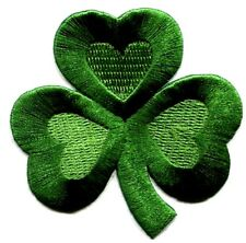 SHAMROCK SMALL IRON ON PATCH  SIZE:  1 X 1 inch