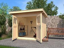 Weka Gartenhaus 179 Gr.1 28 mm Blockbohlenstärke mit Flachdach 235x209 cm