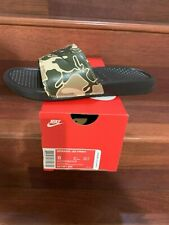 Nike Benassi JDI Print Men's Sandals Velvet Brown 631261-202 Size 8