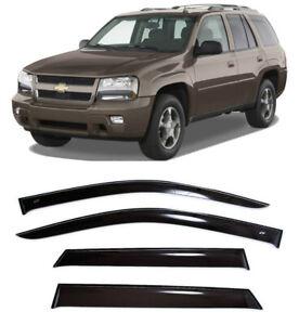 For Chevrolet Trailblazer 2001-2010 Window Visors Sun Rain Guard Vent Deflectors