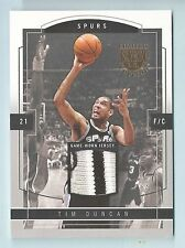 TIM DUNCAN 2003/04 SKYBOX L. E. JERSEY PROOF 3 COLOR PATCH /399 SPURS