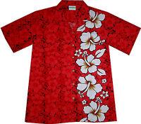 """Men's Hawaiian Shirt """"Classic Red"""" / size M - 6XL / 100% cotton / Hawaii Hawaian"""