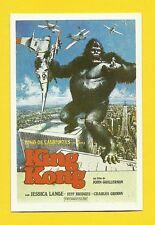 King Kong Jessica Lange Vintage 1984 Spanish Movie Film Collector Card