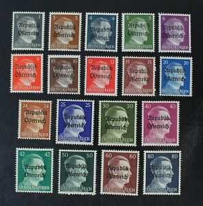 CKStamps: Austria Stamps Collection Mint H OG 1 Signed