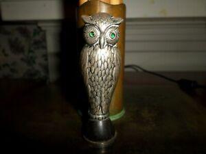 Antique Danish Silver Owl Model Wax Seal Glass Eyes Ebony Christensens C.A.C.