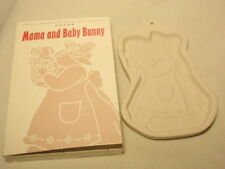 """Longaberger Pottery Bunny Series Cookie Mold """"Mama & Baby� 1994"""