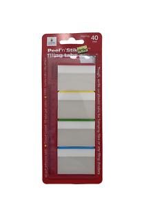 Peel n Stik Flags and Tabs Self Adhesive Pack of 40