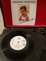 "Freddie Mercury ‎– I Was Born To Love You Vinyl 7"" P/S UK CBS A6019 1985"