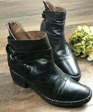 Allsaints Co. Womens Black Ankle Boots Booties Distressed Short Heel Size Size 6