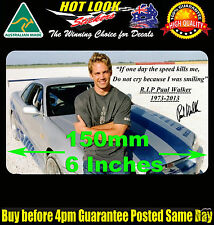 Paul Walker Sticker GTR Skyline Memorial RIP 2 FAST 2 FURIOUS Decal Sticker Bomb
