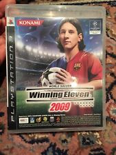 Winning eleven PS3 2009 Manual Case And Game