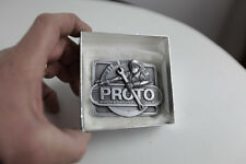 VINTAGE PROTO TOOLS STANLEY SNAP ON  PRO BELT BUCKLE PRO BEHIND EVERY TOOL