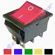 On-On Momentary/ Latching DPDT Rocker Swich 15A/ 230V 6 Pins 2 Circuits