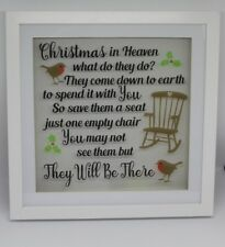 Christmas in Heaven what do they do? Box Frame Christmas memorial decoration