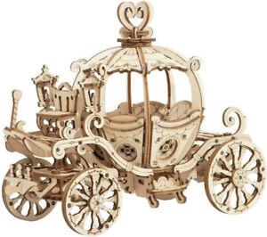 Pumpkin Cart: Robotime 3D Carriage Wooden Puzzle TG302 182 p'ces