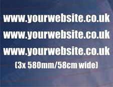 3x LARGE WEBSITE ADDRESS Car Clubs Business Shops Car/Van/Window/Bumper Stickers