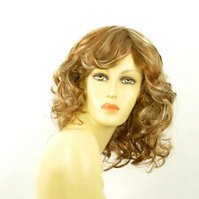 Perruque femme mi-longue blond foncé méché blond clair FLO F27613