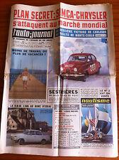 >L'AUTO-JOURNAL n°317 du 2/1963; Simca-Chrysler/ Monte Carlo; Carlsson/ BMW 1500