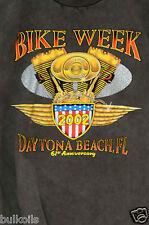 XL Mens BIKE WEEK Daytona Beach T-shirt 2002 GRAY T Shirt bikers motorcycles