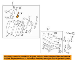 Pontiac GM OEM 03-10 Vibe Rear Seat-Latch Right 88970640