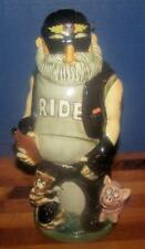 BIKER BOB PORCELAIN STEIN! James Lim Biker Stein Series! Second Edition! Germany