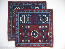 19d1179defe Crewel Embroidered Ladakh Design Pillow Cover Kashmir India