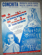 1942 CONCHITA MARQUITA LOLITA Sheet Music Jule Styne PRIORITIES ON PARADE Rhodes