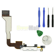 White Charging Charger Dock Connector Port Flex Cable for iPhone 4 CDMA+ Tools